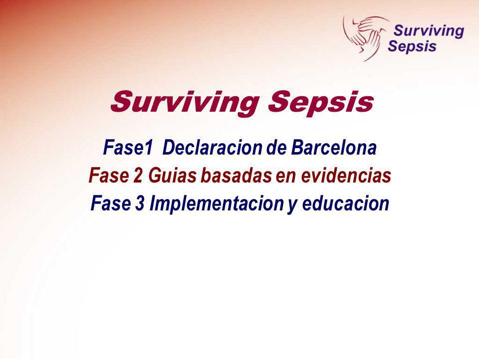 Surviving Sepsis Fase1 Declaracion de Barcelona