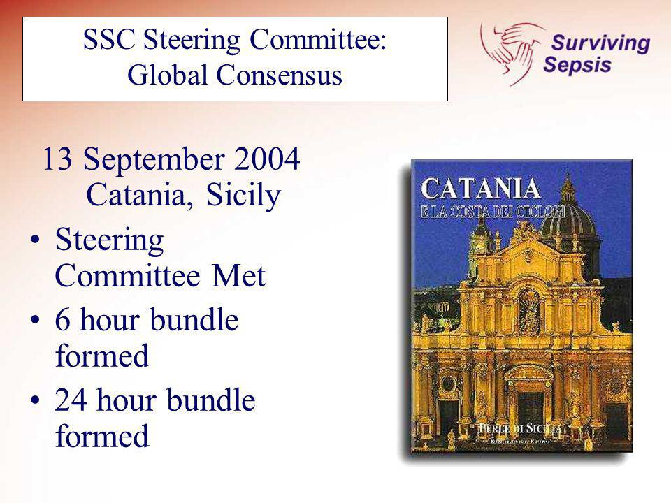 SSC Steering Committee: Global Consensus