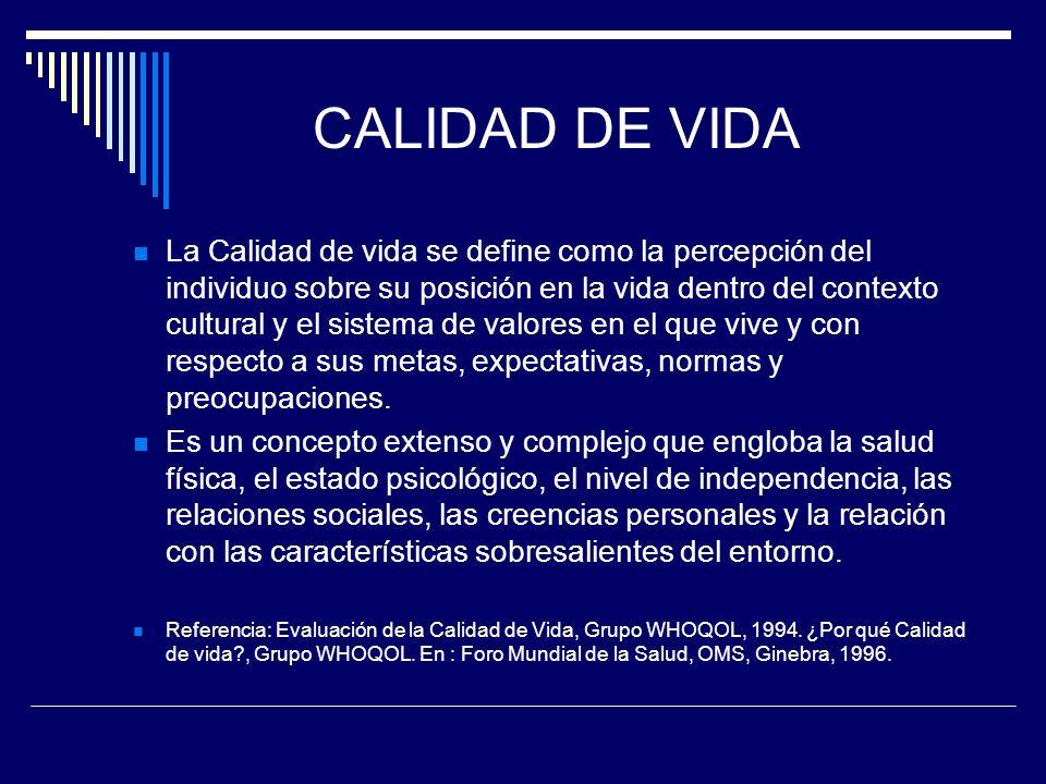 CALIDAD DE VIDA
