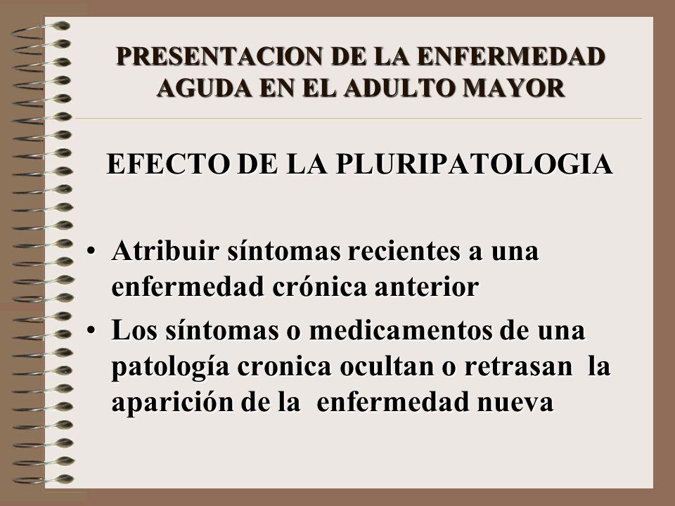 PRESENTACION DE LA ENFERMEDAD AGUDA EN EL ADULTO MAYOR