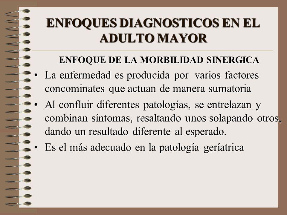 ENFOQUES DIAGNOSTICOS EN EL ADULTO MAYOR