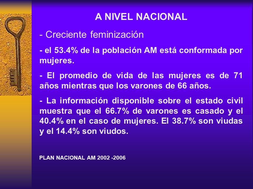 - Creciente feminización