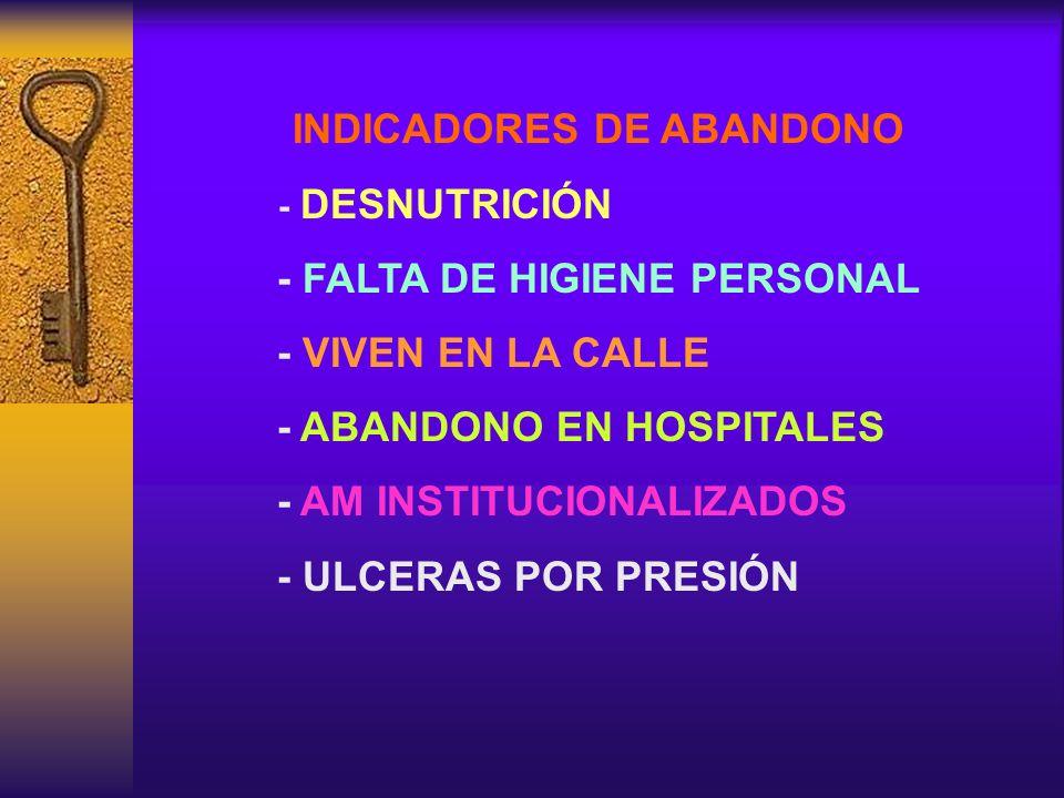 INDICADORES DE ABANDONO