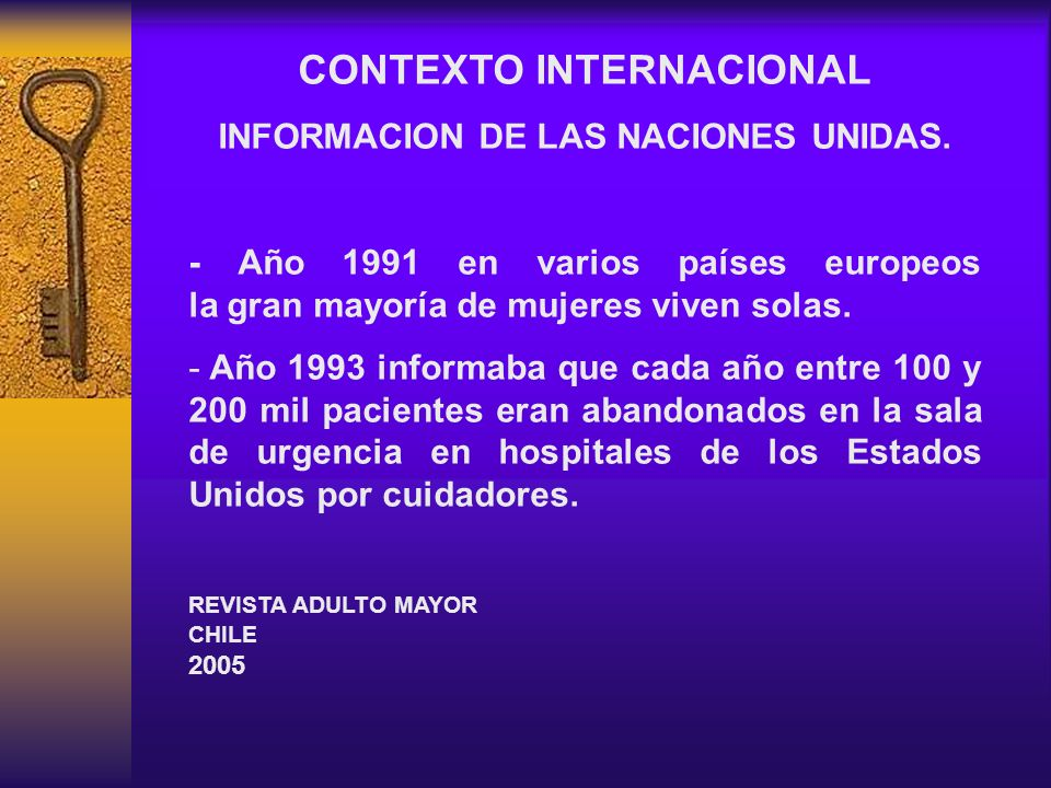 CONTEXTO INTERNACIONAL INFORMACION DE LAS NACIONES UNIDAS.