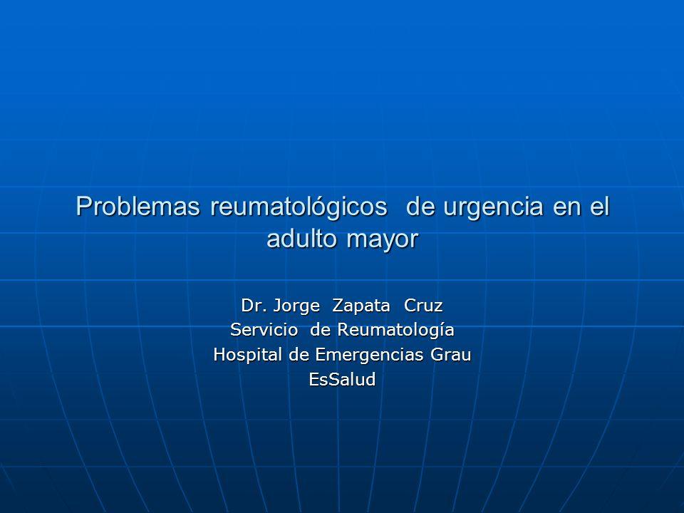 Problemas reumatológicos de urgencia en el adulto mayor