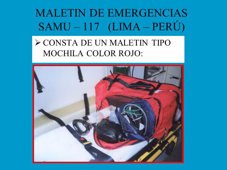 MALETIN DE EMERGENCIAS SAMU – 117 (LIMA – PERÚ)