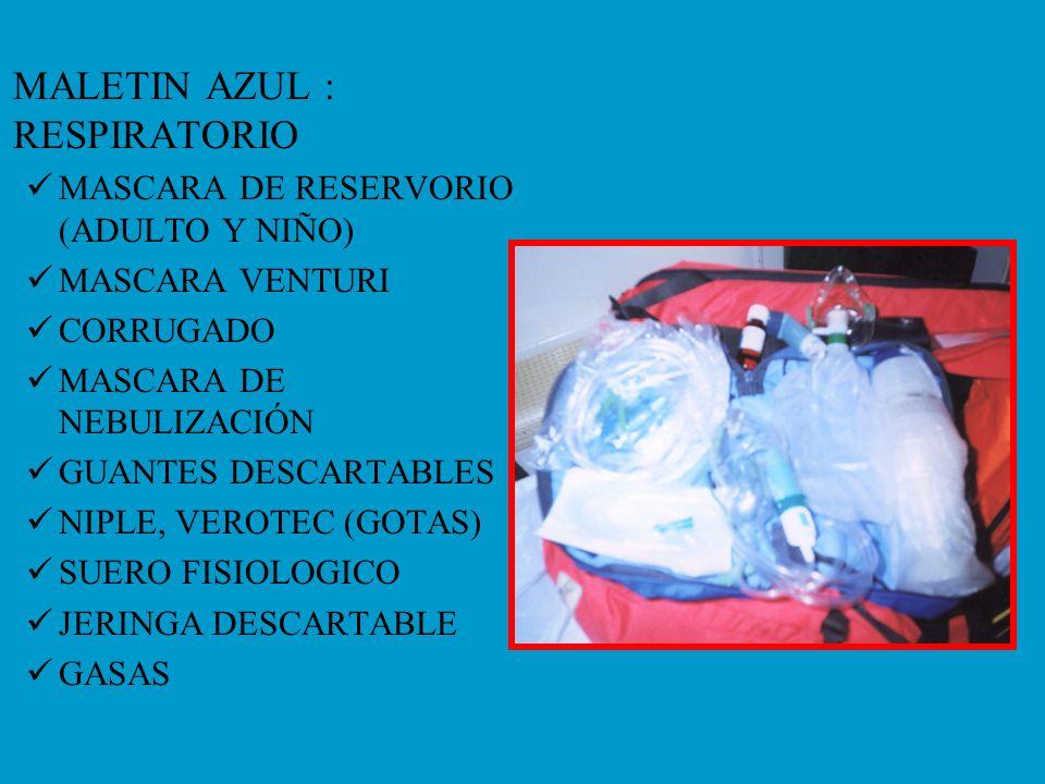 MALETIN AZUL : RESPIRATORIO