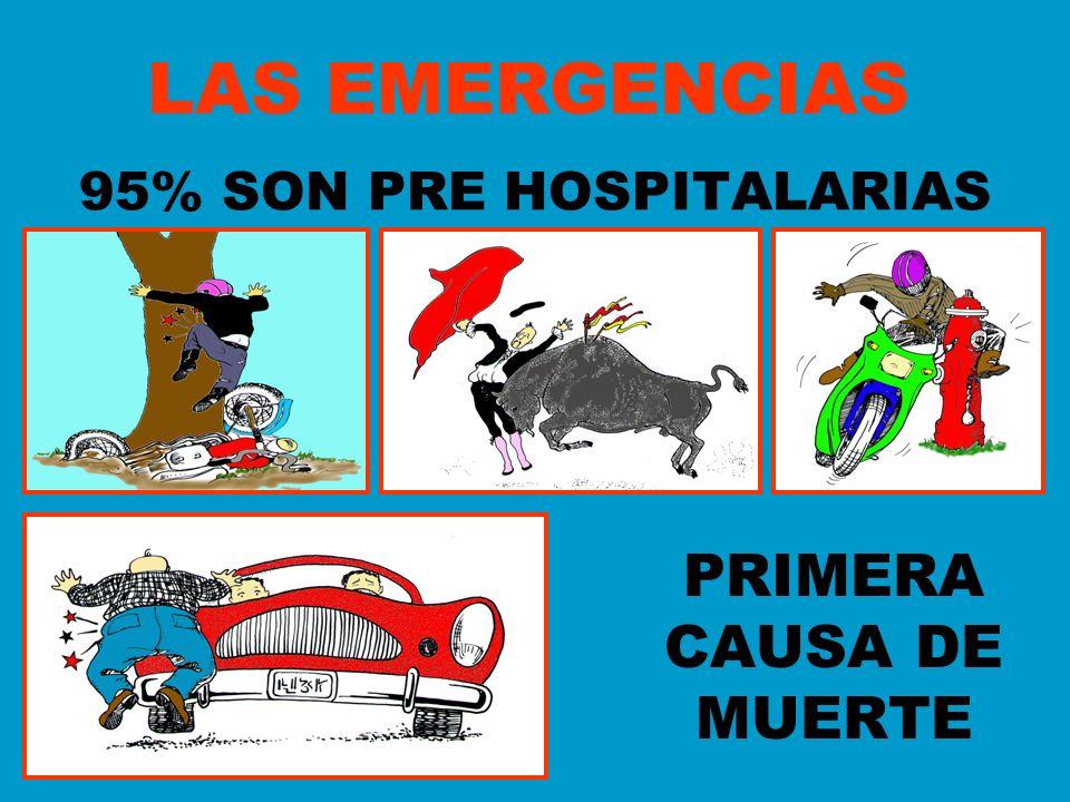 95% SON PRE HOSPITALARIAS