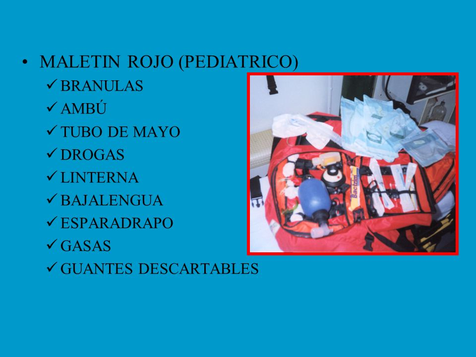 MALETIN ROJO (PEDIATRICO)