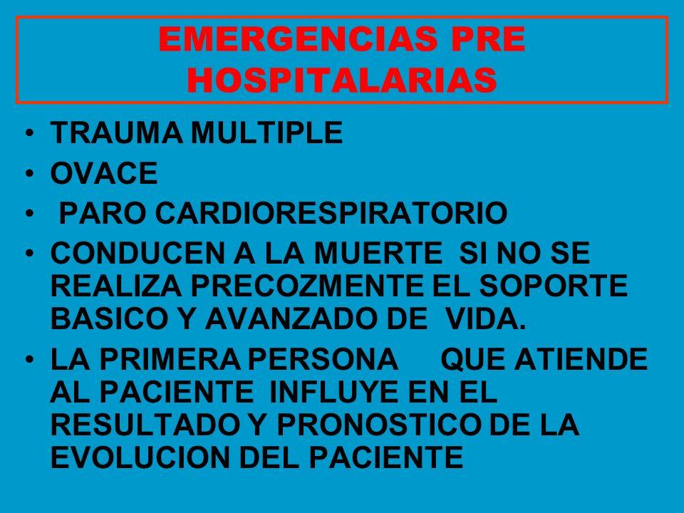 EMERGENCIAS PRE HOSPITALARIAS