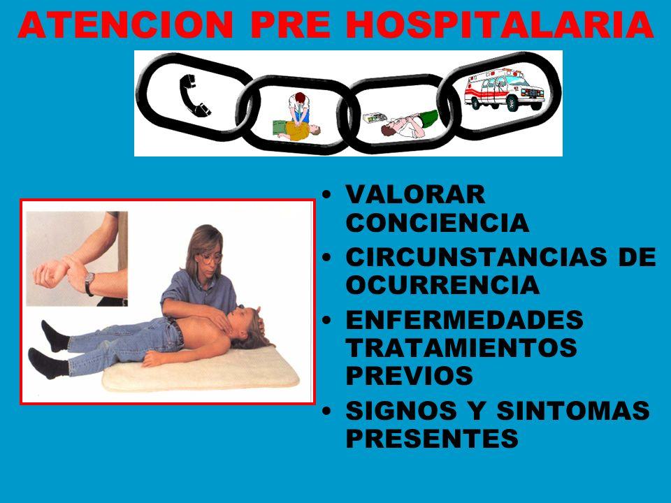 ATENCION PRE HOSPITALARIA
