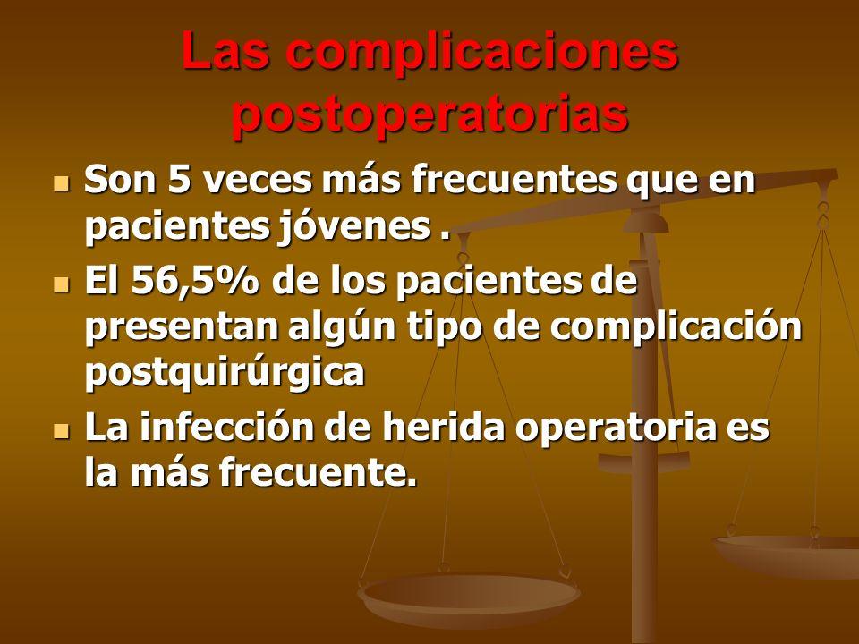 Las complicaciones postoperatorias