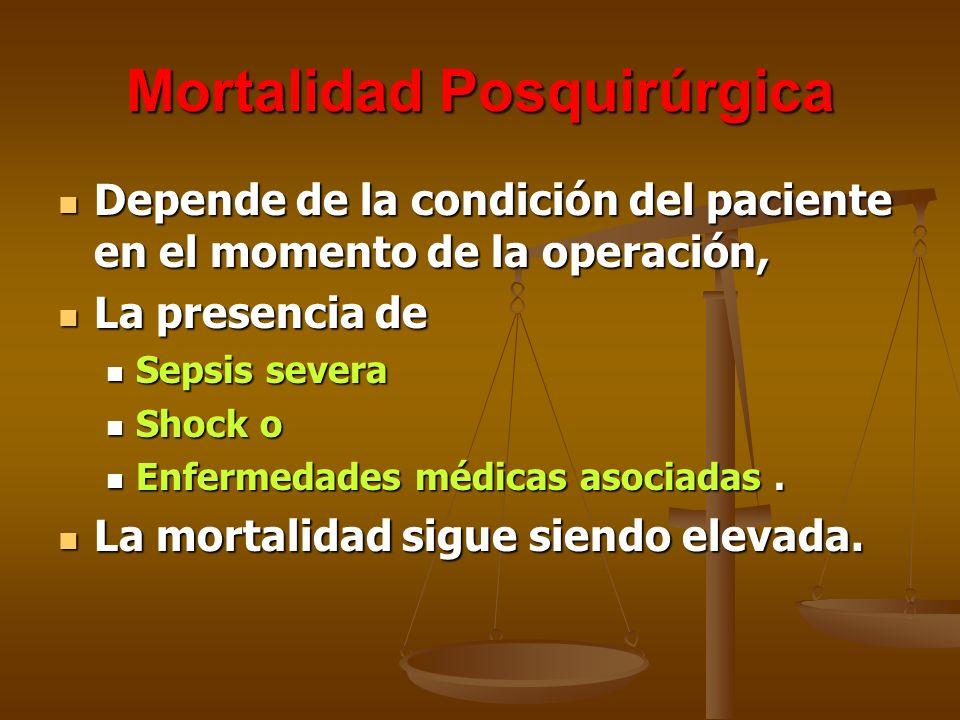 Mortalidad Posquirúrgica