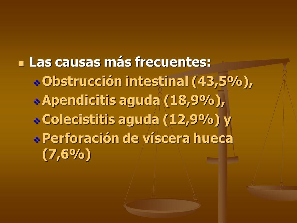 Las causas más frecuentes: