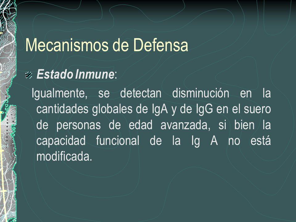 Mecanismos de Defensa Estado Inmune:
