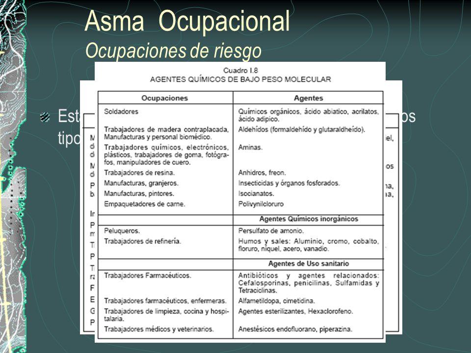 Asma Ocupacional Ocupaciones de riesgo