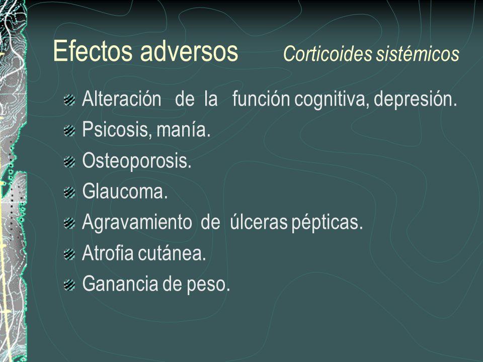 Efectos adversos Corticoides sistémicos