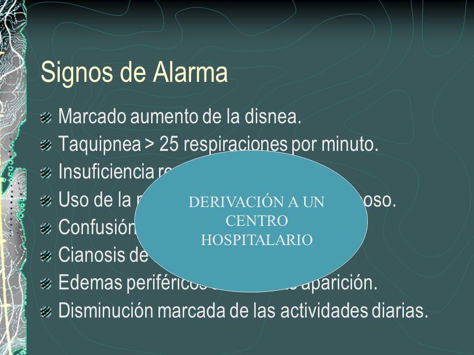 DERIVACIÓN A UN CENTRO HOSPITALARIO