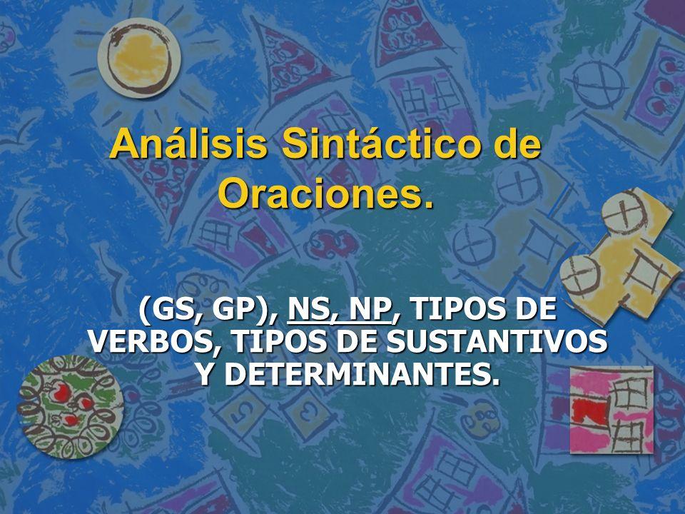 Análisis Sintáctico de Oraciones.