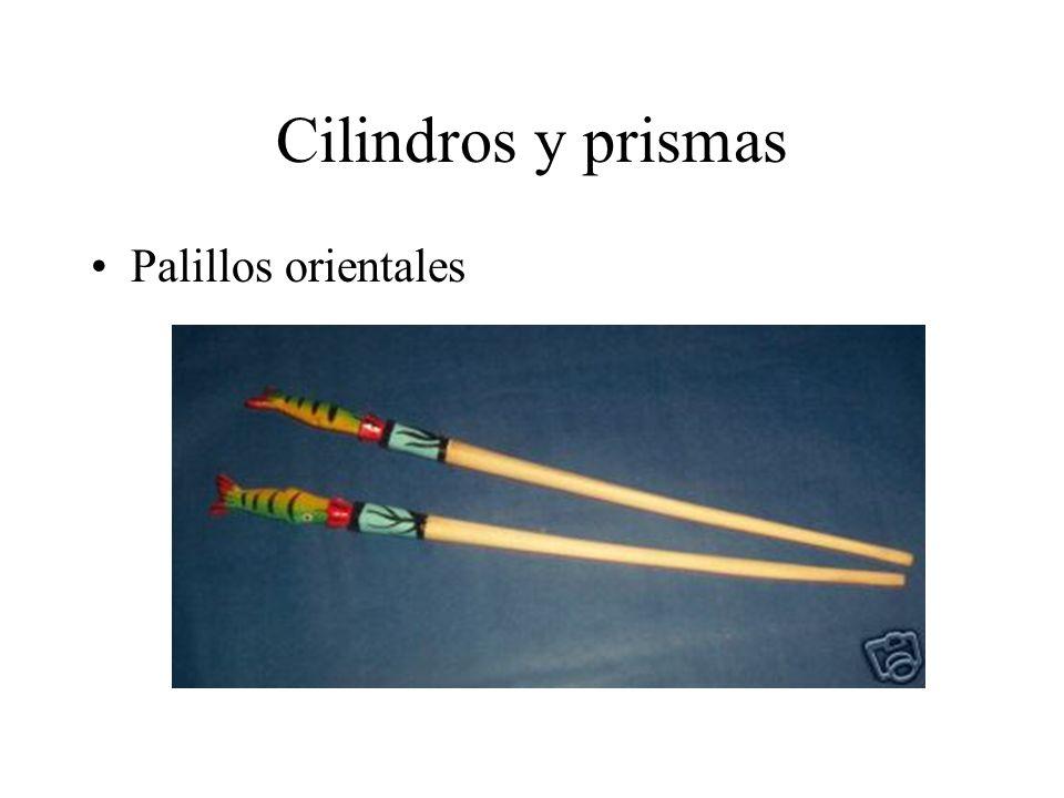 Cilindros y prismas Palillos orientales
