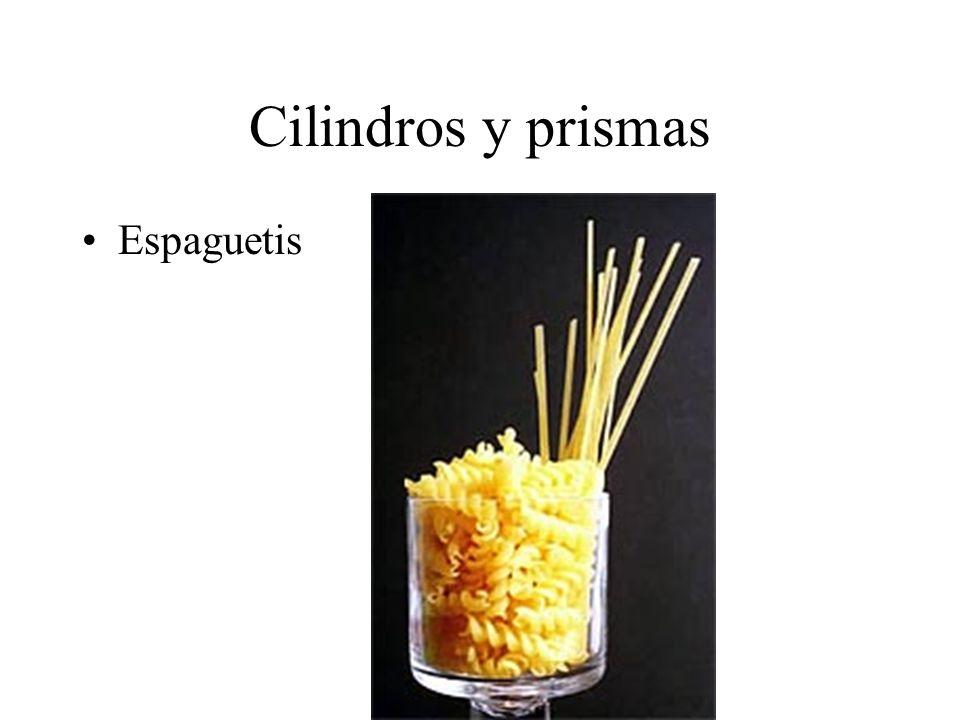 Cilindros y prismas Espaguetis