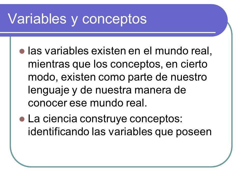 Variables y conceptos