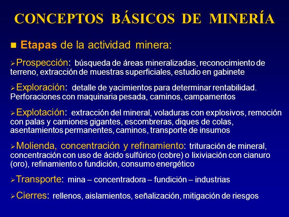 CONCEPTOS BÁSICOS DE MINERÍA