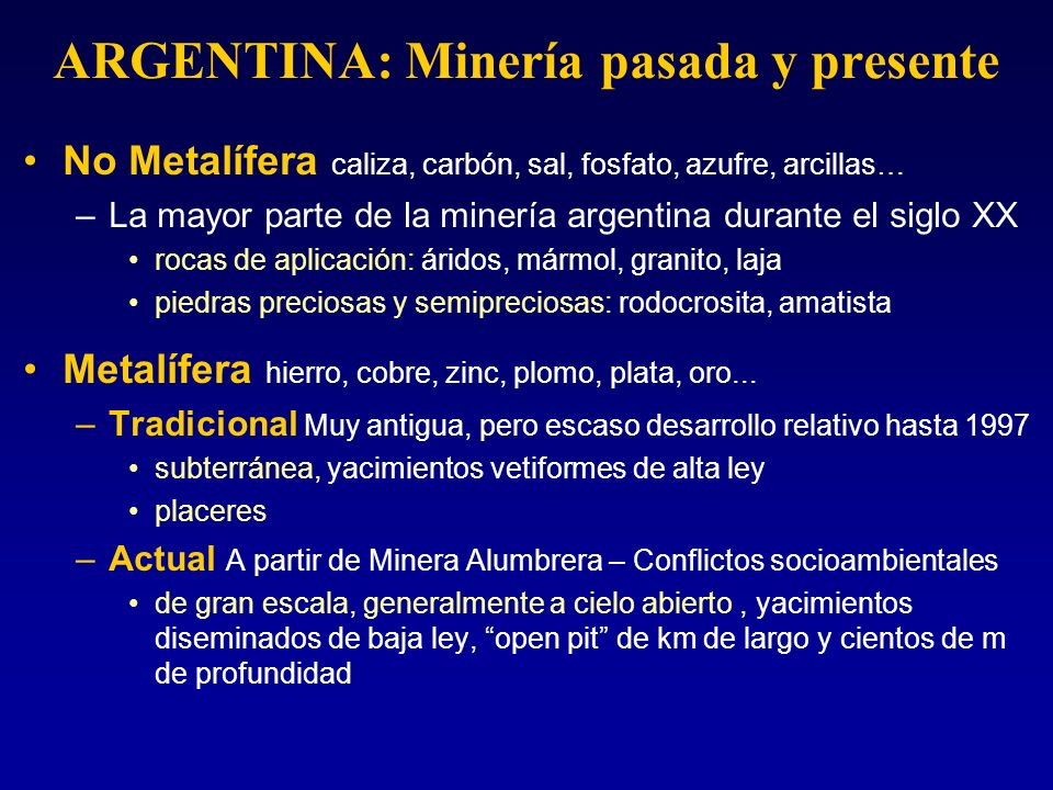 ARGENTINA: Minería pasada y presente