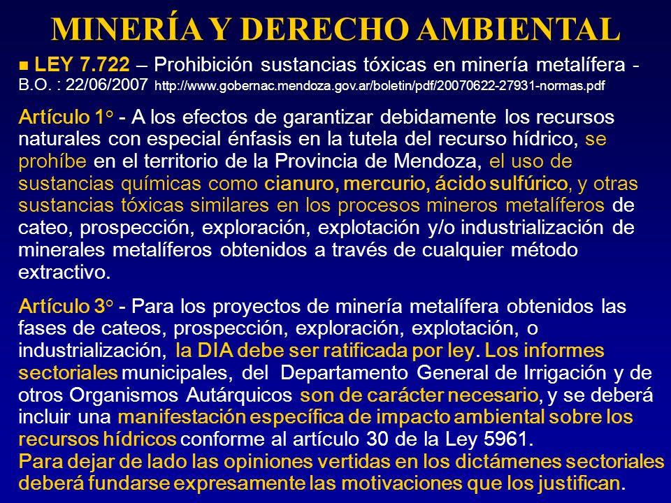 MINERÍA Y DERECHO AMBIENTAL
