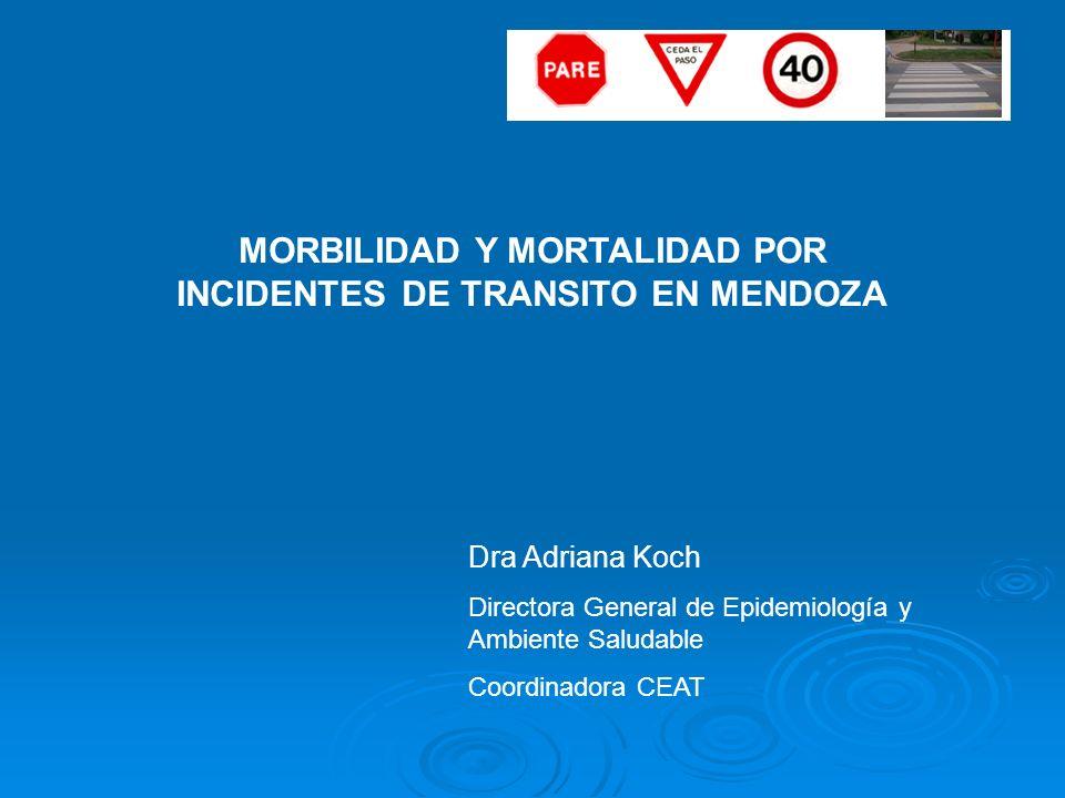 MORBILIDAD Y MORTALIDAD POR INCIDENTES DE TRANSITO EN MENDOZA