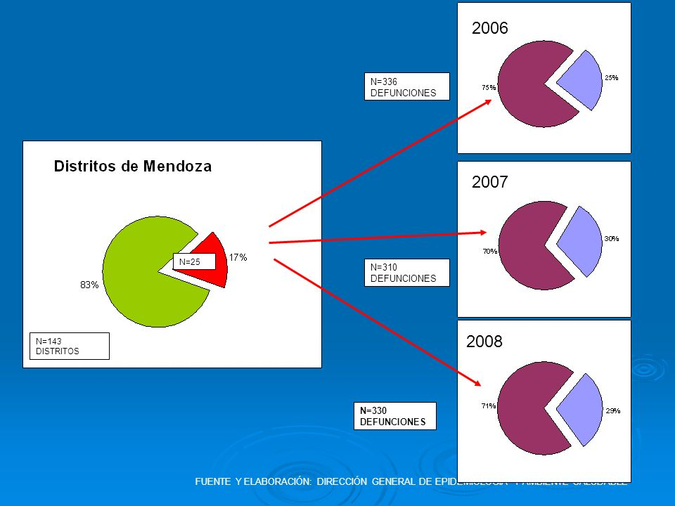 2006 2007 2008 N=336 DEFUNCIONES N=310 DEFUNCIONES N=330 DEFUNCIONES