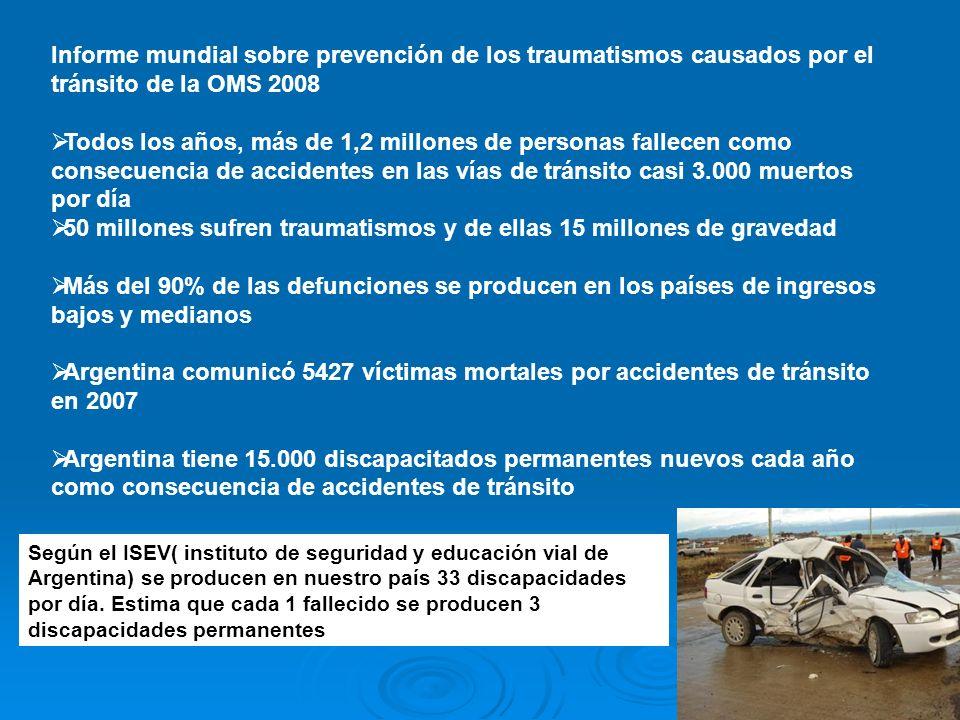 50 millones sufren traumatismos y de ellas 15 millones de gravedad