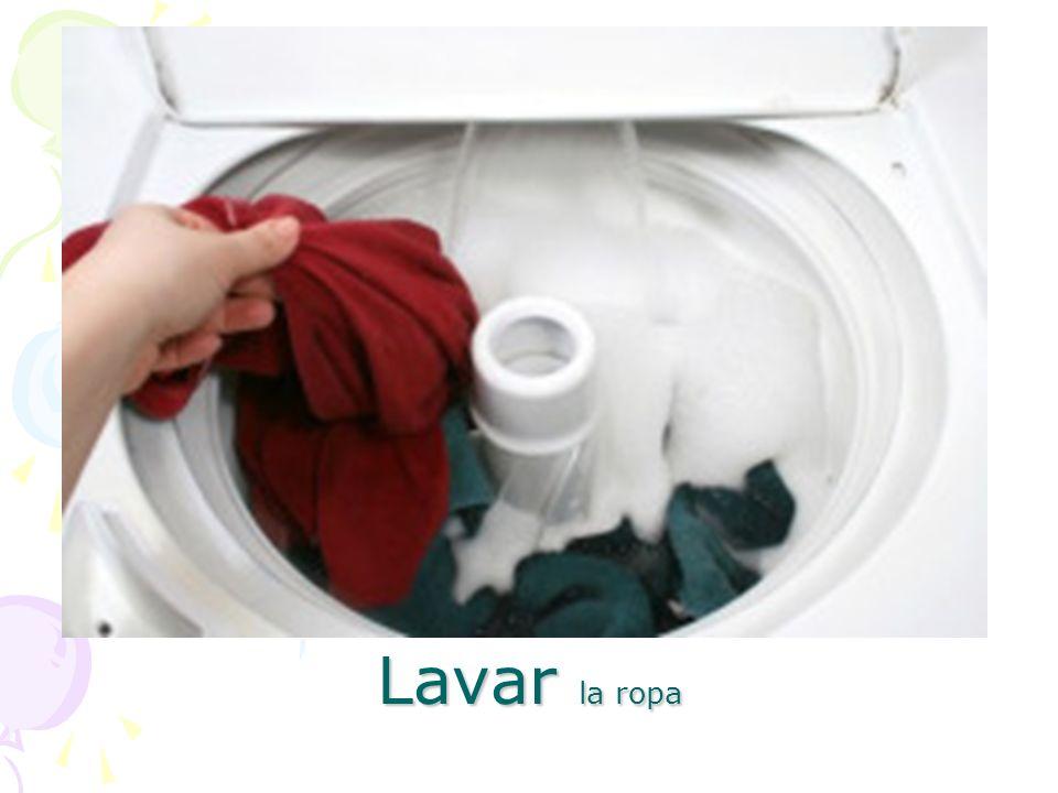 Lavar la ropa