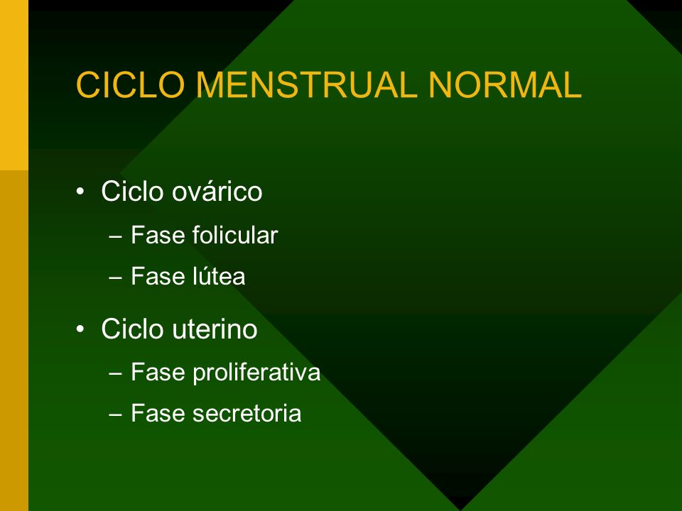 CICLO MENSTRUAL NORMAL