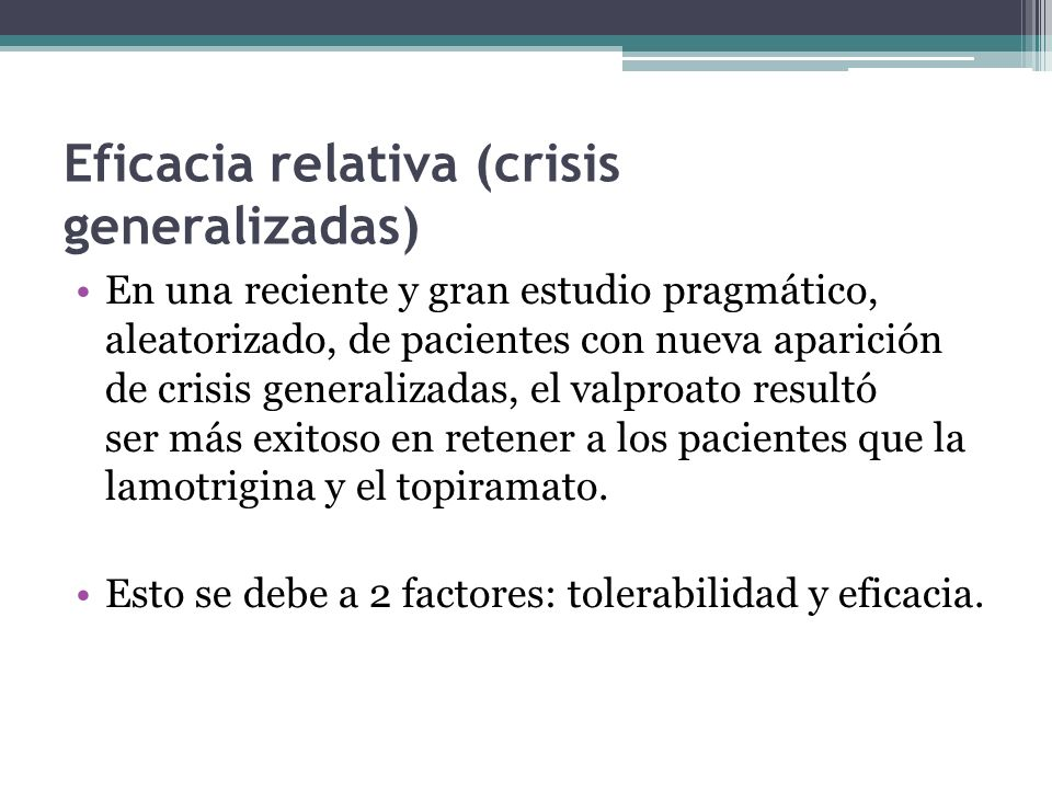 Eficacia relativa (crisis generalizadas)