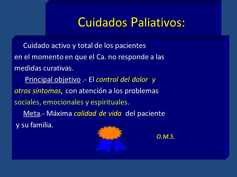 Cuidados Paliativos: Cuidado activo y total de los pacientes