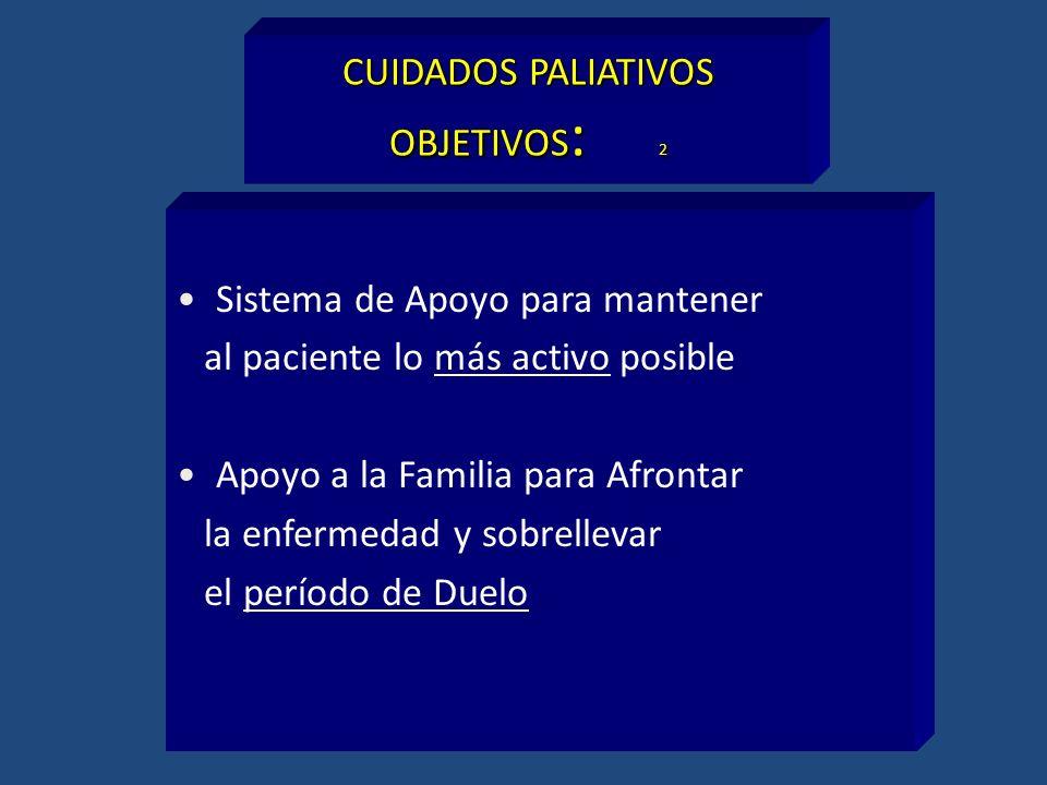 CUIDADOS PALIATIVOS OBJETIVOS: 2