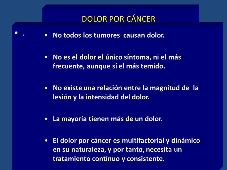 DOLOR POR CÁNCER . No todos los tumores causan dolor.