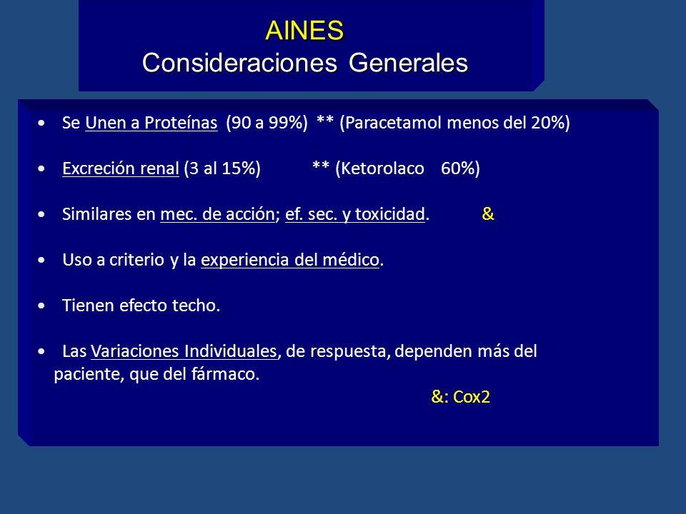 AINES Consideraciones Generales
