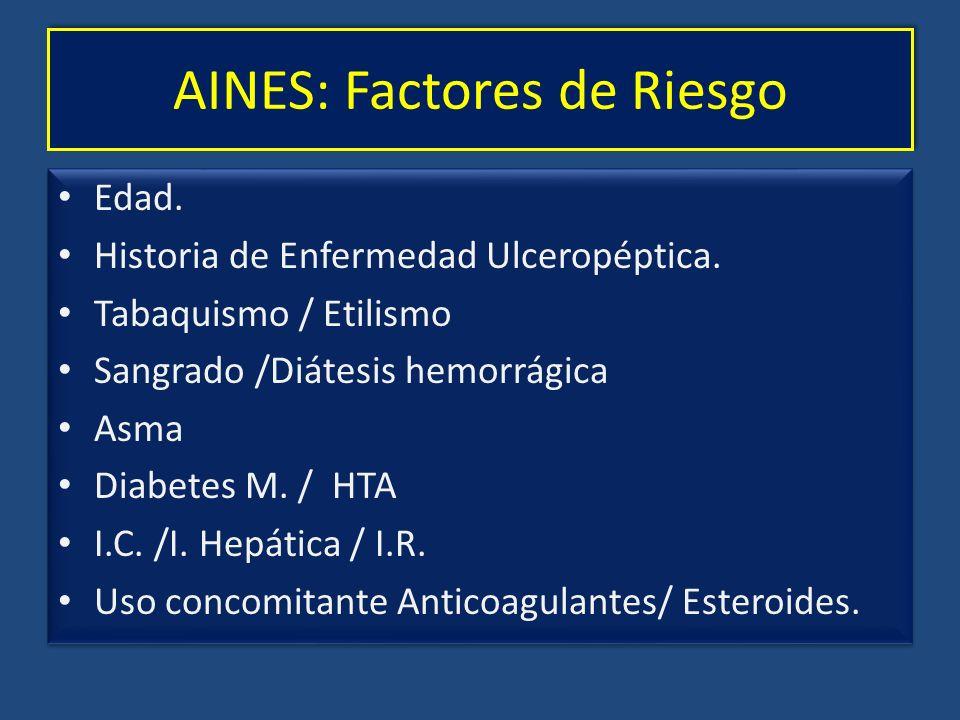 AINES: Factores de Riesgo