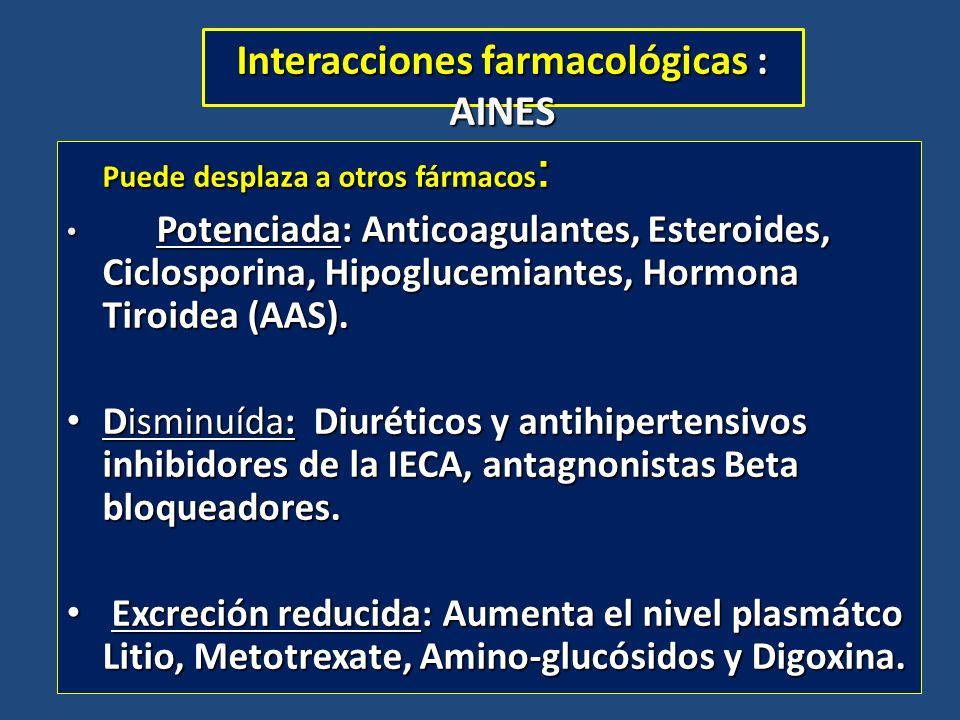 Interacciones farmacológicas : AINES