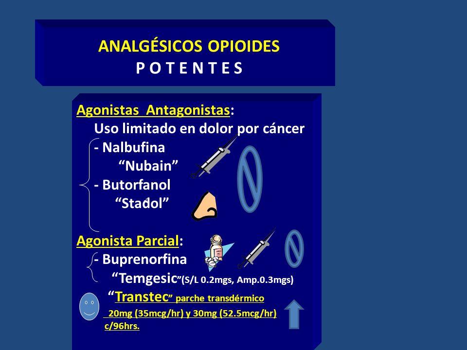 ANALGÉSICOS OPIOIDES P O T E N T E S