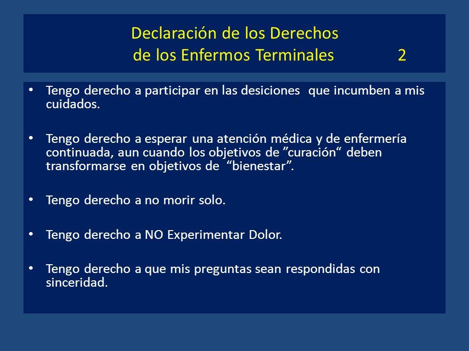 Declaración de los Derechos de los Enfermos Terminales 2
