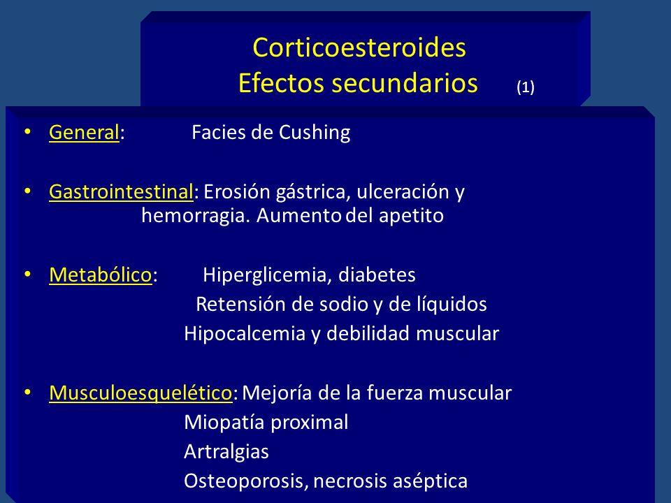 Corticoesteroides Efectos secundarios (1)