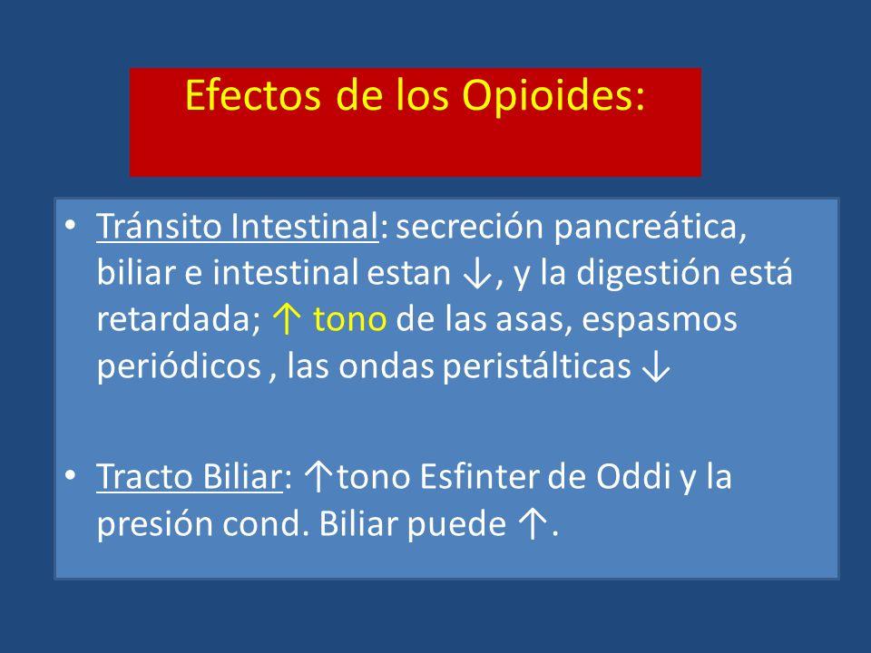 Efectos de los Opioides: