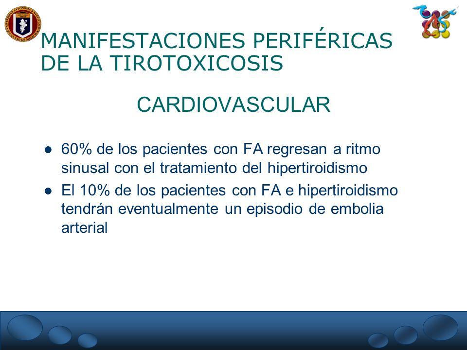 MANIFESTACIONES PERIFÉRICAS DE LA TIROTOXICOSIS