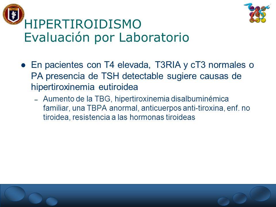 HIPERTIROIDISMO Evaluación por Laboratorio