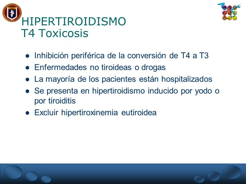HIPERTIROIDISMO T4 Toxicosis