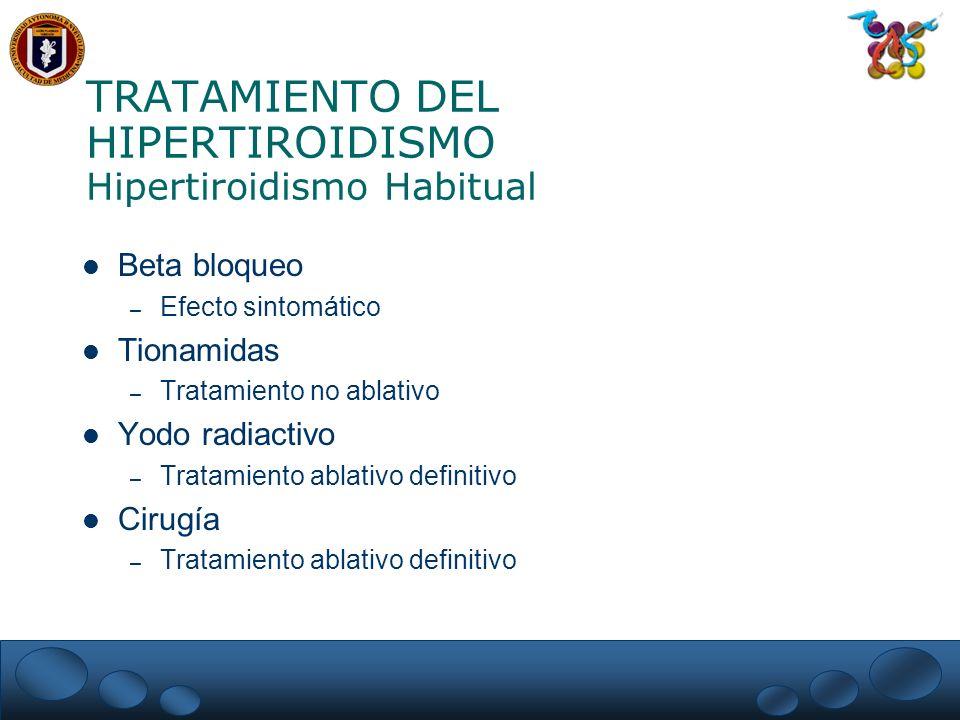 TRATAMIENTO DEL HIPERTIROIDISMO Hipertiroidismo Habitual