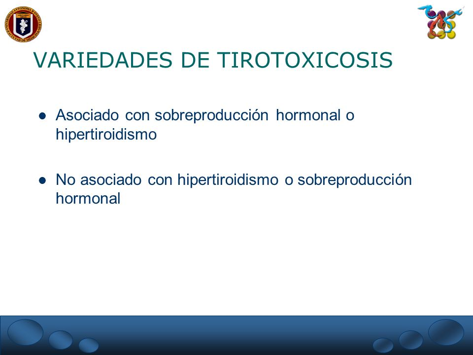 VARIEDADES DE TIROTOXICOSIS
